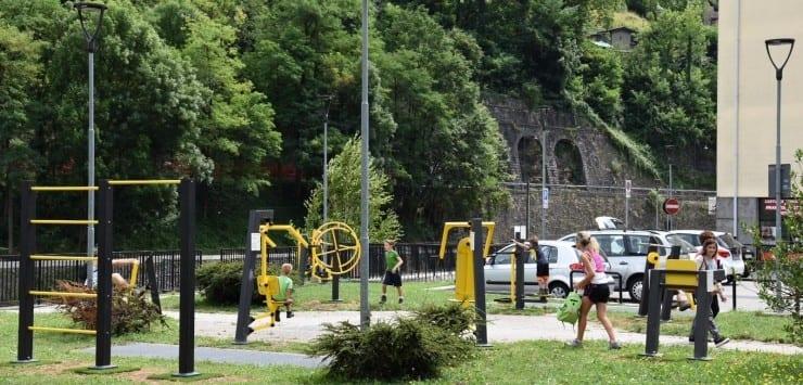 A San Pellegrino la 'palestra a cielo aperto': 11 attrezzature nella nuova area fitness