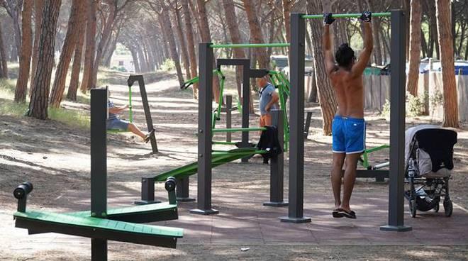Montalto di Castro, realizzata un'area fitness nella pineta comunale