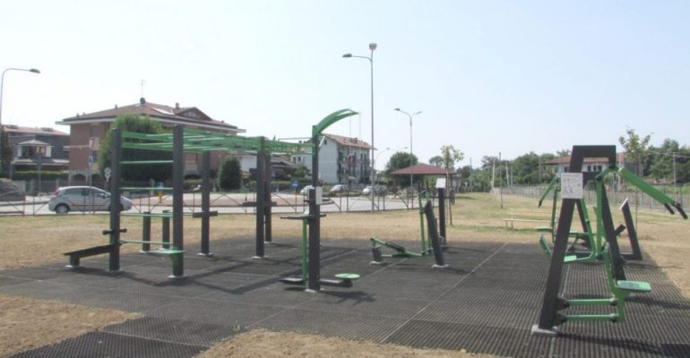SAN BENIGNO. Inaugurata l'area fitness all'aperto in strada del'Alpina