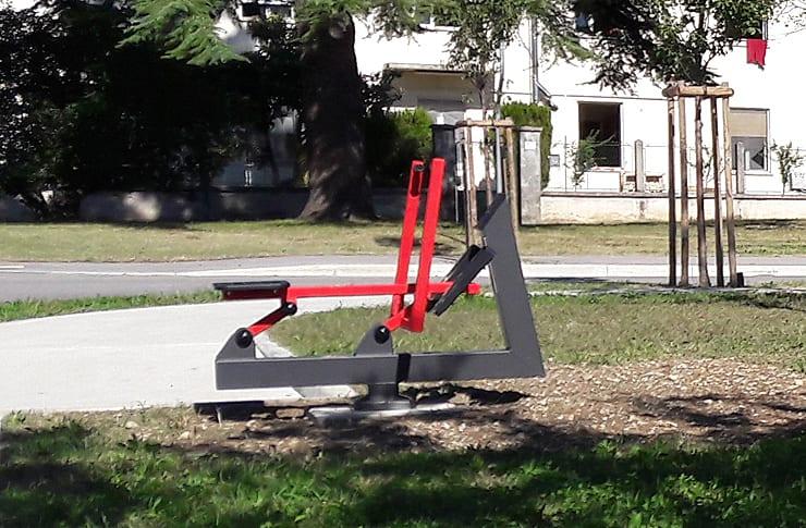 Turriaco, postazioni di fitness outdoor ai giardini Margherita Hack